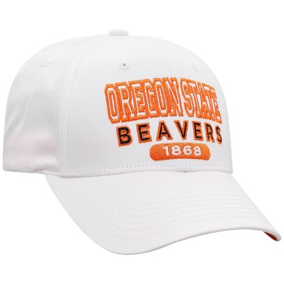NCAA Oregon State Beavers Men's White Twill Structured Snapback Hat