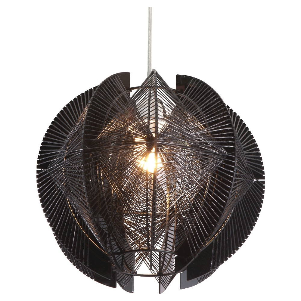 Exotic Acrylic and Metal Adjustable 11 Ceiling Lamp - ZM Home, Black