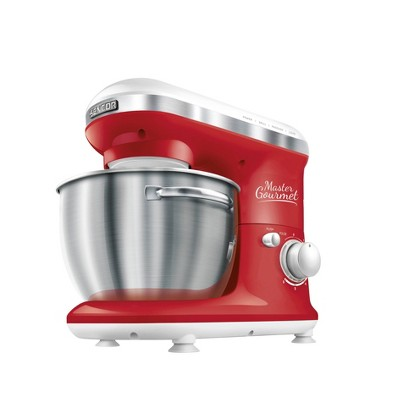Sencor 4.2qt Stand Mixer with Pouring Shield - Red