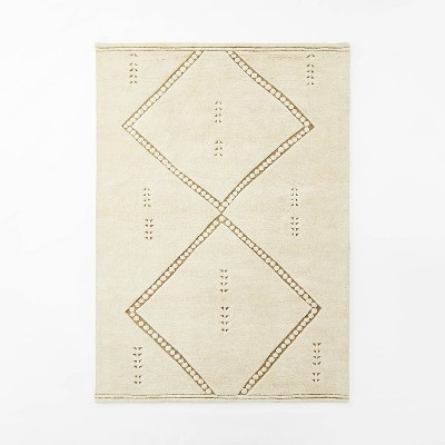 7'x10' Cedar Hills Plush Geo Print Rug Cream - Threshold™ designed with Studio McGee