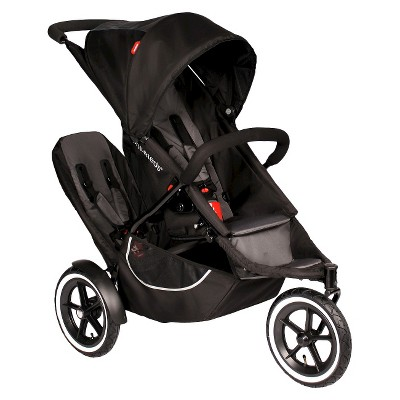 phil&teds® Classic Inline Stroller with Second Seat - Black