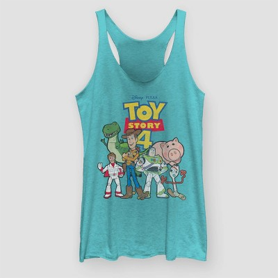 Women's Toy Story Graphic Tank Top (Juniors') - Tahiti Blue