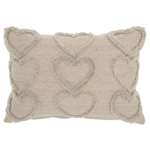 Life Styles Raised Hearts Throw Pillow - Mina Victory - image 1 of 4