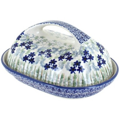 Blue Rose Polish Pottery Brienna Butter Dish