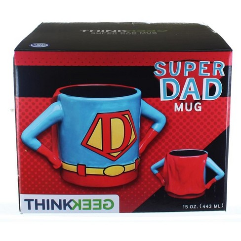 Thinkgeek Inc Superhero Dad 15oz Ceramic Mug Target