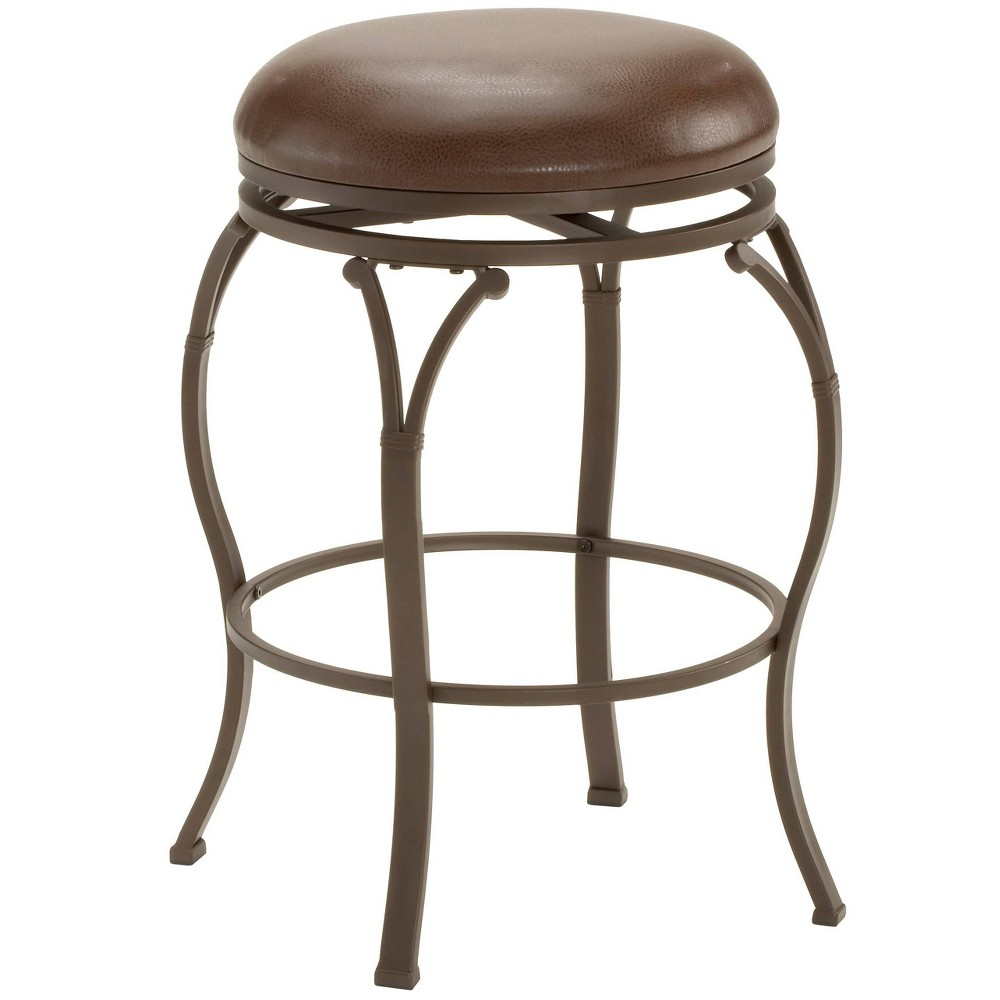 24 Lakeview Backless Counter Height Barstool Metal Brown - Hillsdale Furniture Reviews