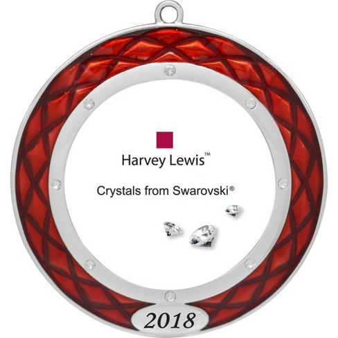 Harvey Lewis 2018 Christmas Tree Frame Ornament With Crystals From