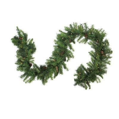 "Northlight 9' x 16"" Prelit LED Dakota Red Pine Artificial Christmas Garland - Warm White Lights"