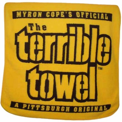 """NFL Terrible Towel The Fleece Throw Blanket 50"""" x 60"""", Yellow"""