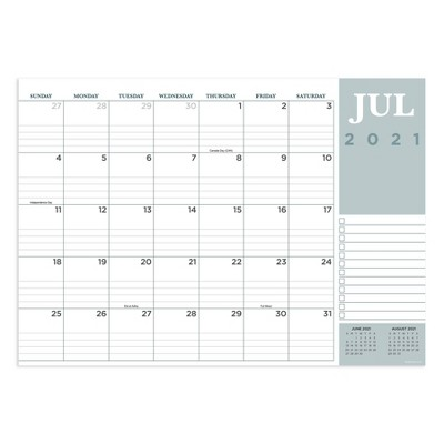 2021-22 Academic Desktop Calendar Professional Monthly - The Time Factory
