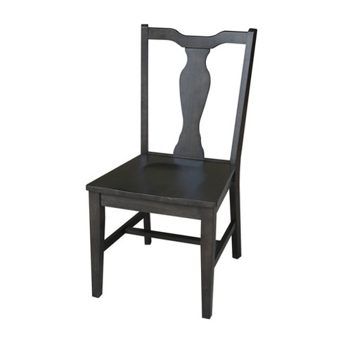 Set of 2 Grove Park Panel Back Chairs Black - International Concepts - image 1 of 8