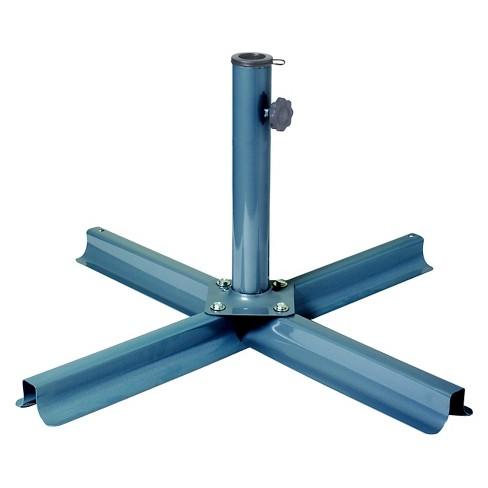 Corliving Gray Black Patio Umbrella Stand - Corliving Gray Black Patio Umbrella Stand : Target