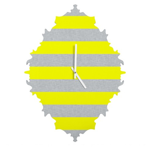 Bright Stripe Baroque Wall Clock - Deny Designs® - image 1 of 1