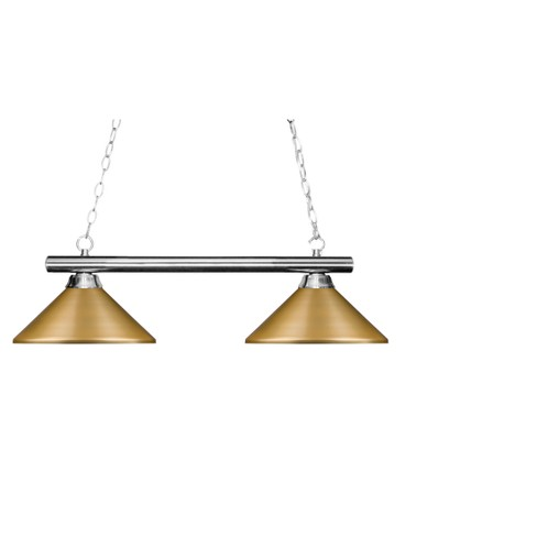 Billiard Ceiling Lights with Satin Gold Glass (Set of 2) - Z-Lite - image 1 of 1