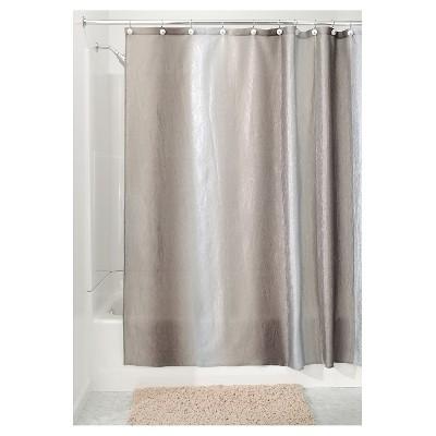 Shower Curtain Interdesign Ombre Design Gray