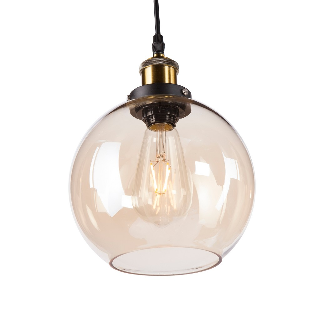 Anu Globe Mini Pendant Lamp - Metallic Golden Amber - Aiden Lane
