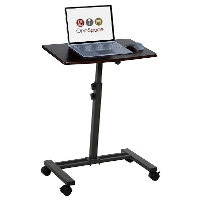 OneSpace 50-JN02 Angle and Height Adjustable Mobile Laptop Computer Desk, Single Surface