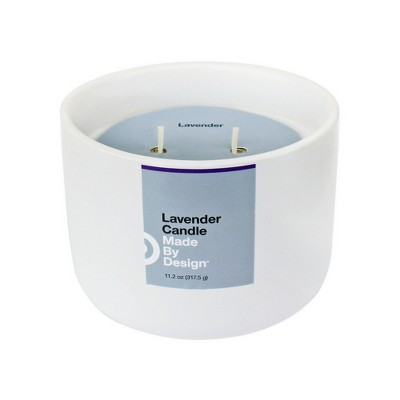 11.2oz Large Ceramic Jar 2-Wick Candle Lavender - Made By Design™