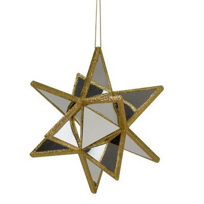 "Northlight 6"" Gold Mirrored Three Dimensional Star Christmas Ornament"