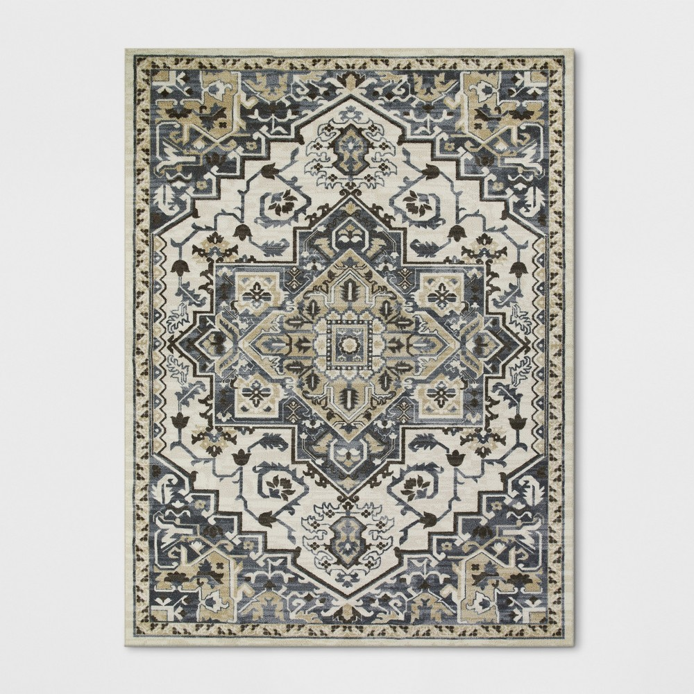 9'X12' Tribal Design Tufted Area Rugs Gray - Threshold