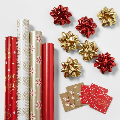 Gift Wrap Pack Red/Gold - Wondershop™