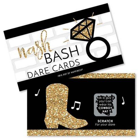 Big Dot of Happiness Nash Bash - Nashville Bachelorette Party Game Scratch Off Dare Cards - 22 Count - image 1 of 4