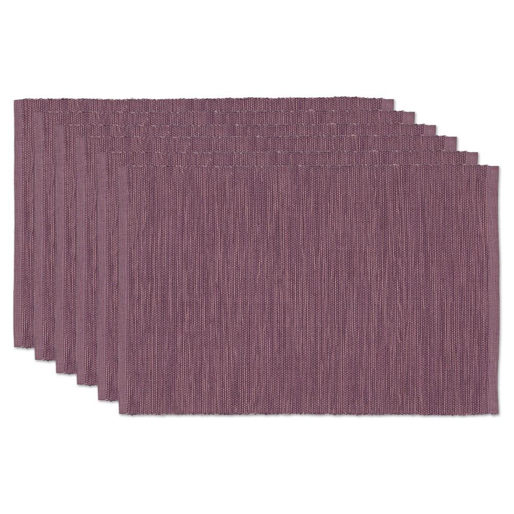 Purple Tonal Placemats (Set Of 6) - Design Imports