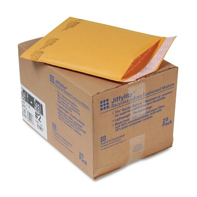 Sealed Air Jiffylite Self-Seal Mailer Side Seam #2 8 1/2 x 12 Golden Brown 25/Carton 10187