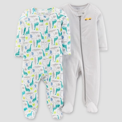 930941670 Baby Boys  2pk Animals Stripe Sleep N  Play - Just One You™ Made By ...