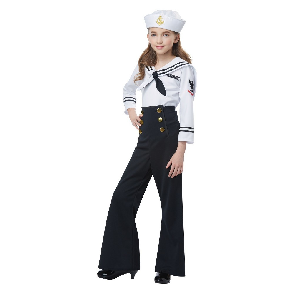 1930s Childrens Fashion: Girls, Boys, Toddler, Baby Costumes Girls NavySailor Halloween Costume XL Multicolored $26.99 AT vintagedancer.com