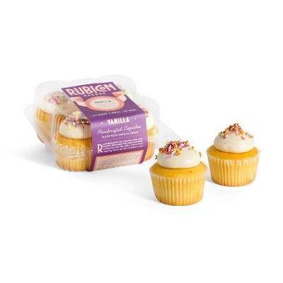 Rubicon Bakery Frozen Vanilla Cupcakes - 10oz/4ct