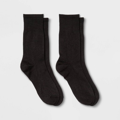 Women's Lightweight Outdoor Wool Blend 2pk Crew Socks - All in Motion™ 4-10