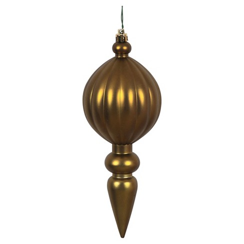 6ct Olive Shiny Finial Drilled Christmas Ornament Set - image 1 of 1