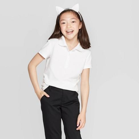 Girls' Short Sleeve Jersey Uniform Polo Shirt - Cat & Jack™ - image 1 of 3