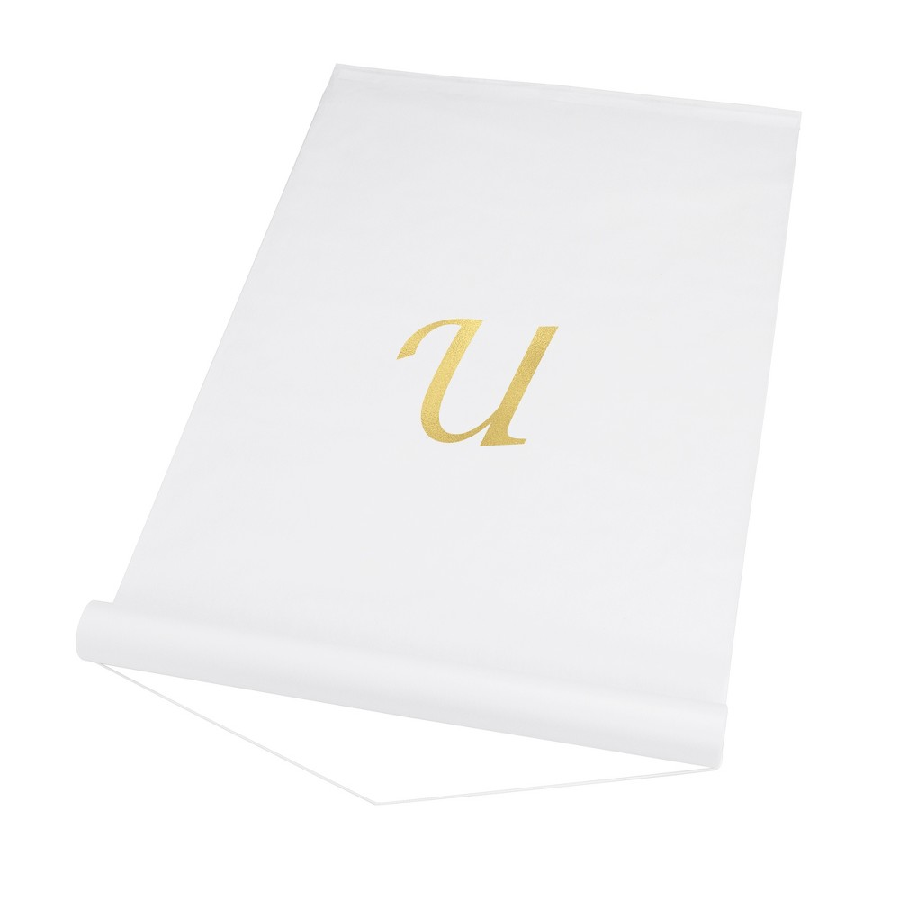 Cathy's Concepts White Personalized Wedding Aisle Runner - U
