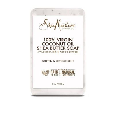 SheaMoisture 100% Virgin Coconut Oil Bar Soap - 8oz