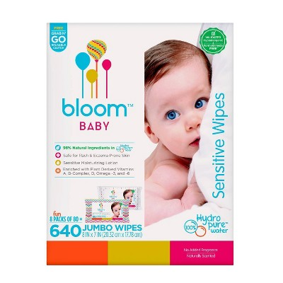 Bloom Baby Unscented Sensitive Skin Wipes - 640ct