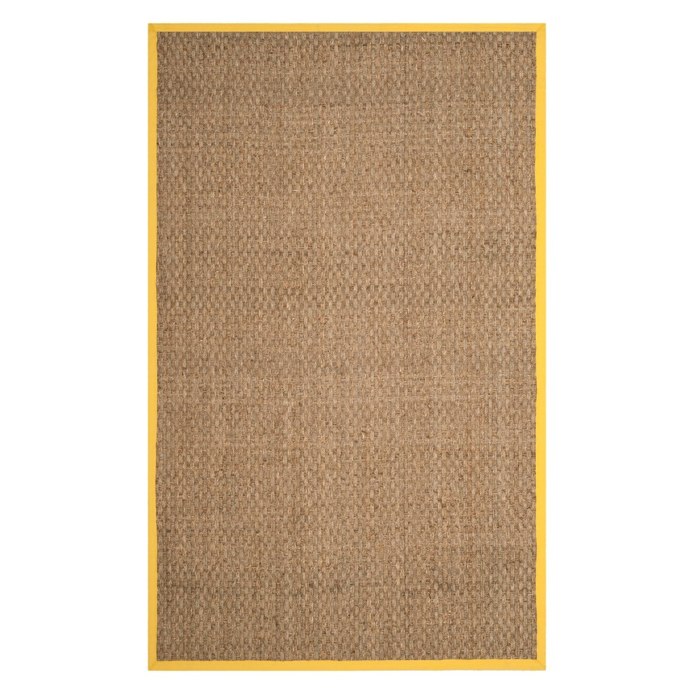 5'X8' Solid Loomed Area Rug Natural/Gold - Safavieh
