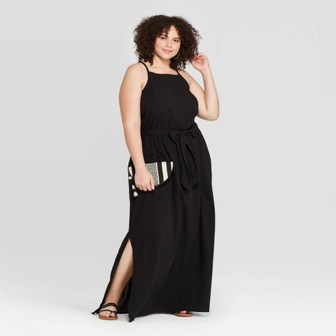 Women\'s Plus Size Sleeveless Square Neck Maxi Dress - Universal Thread™
