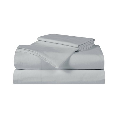 Queen Silver Cool Solid Sheet Set Gray - Truly Calm