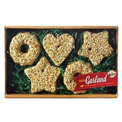 "Home & Garden 3.5"" Holiday Seed Garland Star Heart Mr Bird  -  Bird And Wildlife Food"