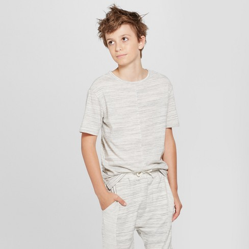 Boys' Short Sleeve T-Shirt - art class™ Gray XS - image 1 of 3