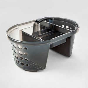 2 in 1 Plastic Shower Caddy Gray - Room Essentials
