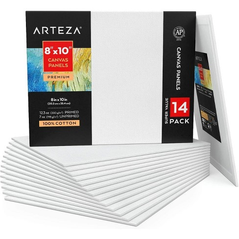 "ARTEZA Canvas Panels, Premium, 8"" x 10"" - Pack of 14 - image 1 of 4"