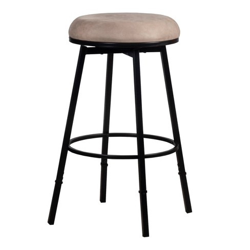 "24"" Sanders Backless Barstool Metal/Suede - Hillsdale Furniture - image 1 of 4"