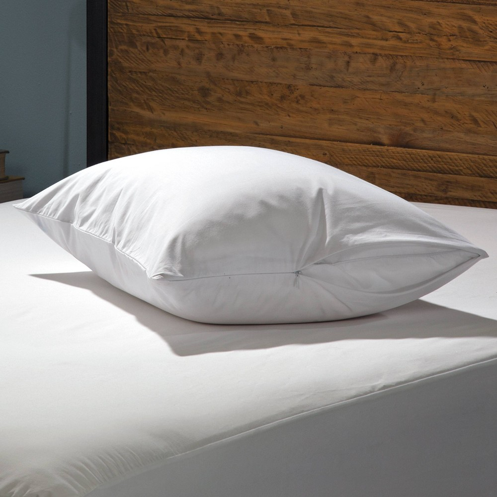 Image of King 2pk Luxury Cotton Pillow Protector White - Sealy