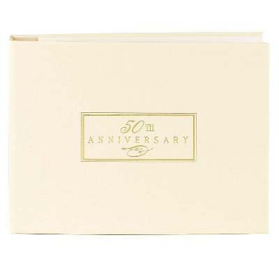 50th Anniversary Guest Book - Ivory