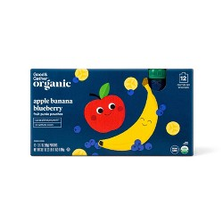 Organic Apple Banana and Blueberry Fruit Squeezers - 12ct - Good & Gather™