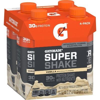 Gatorade Super Shake Ready-to-Drink Protein - Vanilla - 4pk/11.16 fl oz Bottles