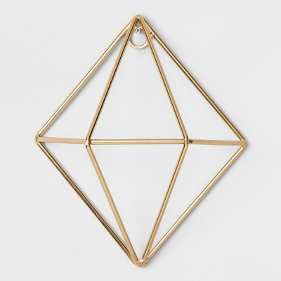 Diamond Decorative Wall Sculpture Gold (5 x6 )- Project 62™